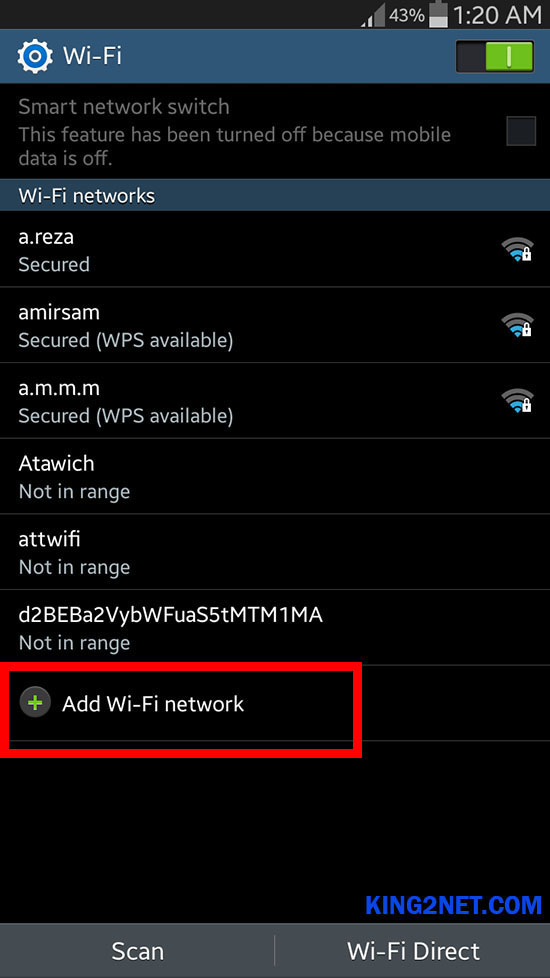 CONNECT HIDDEN WIFI